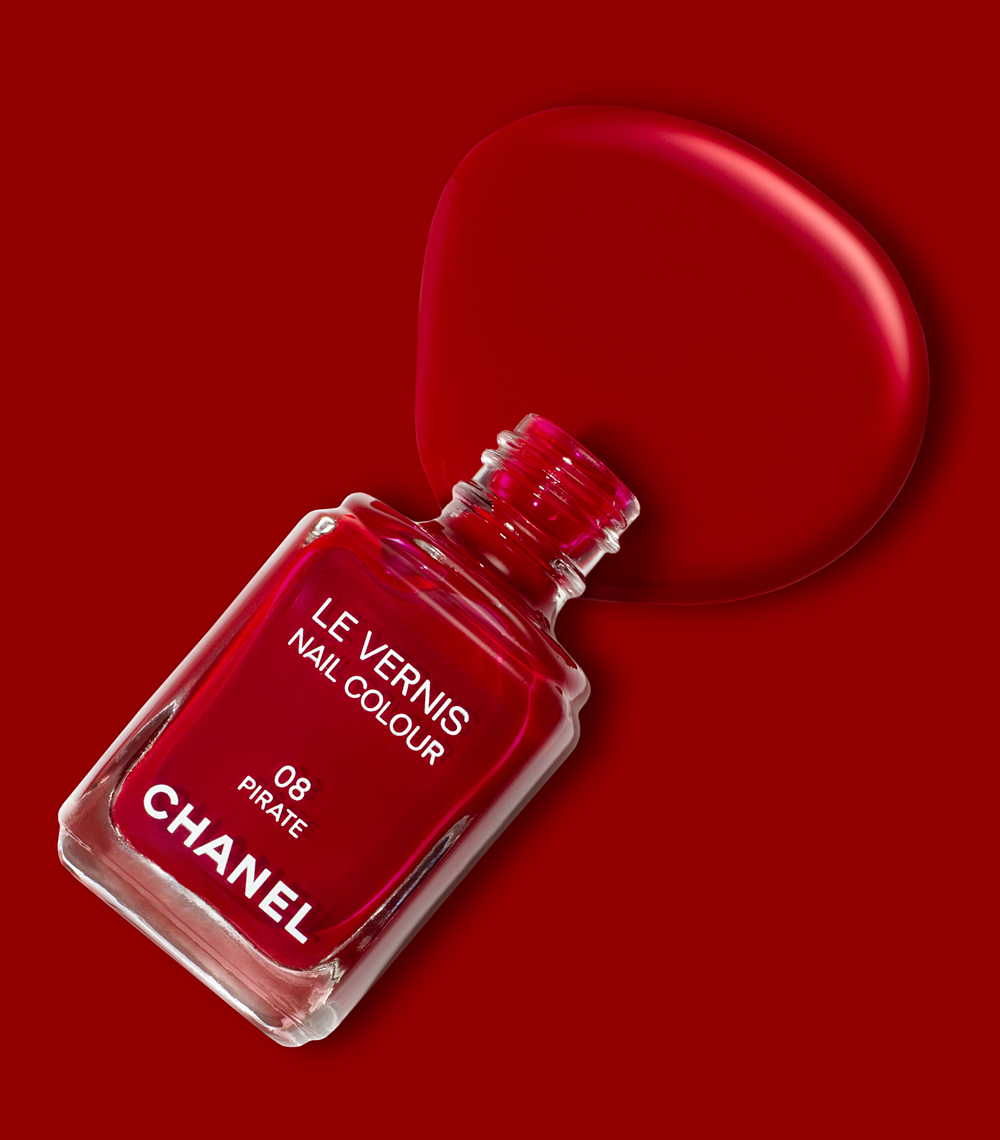 Chanel Red Nail Polish Still Life