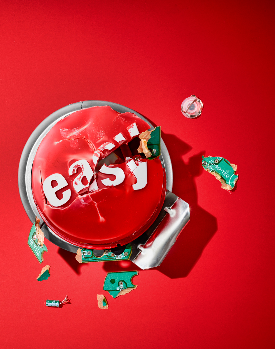 Easy Button Smash Still Life