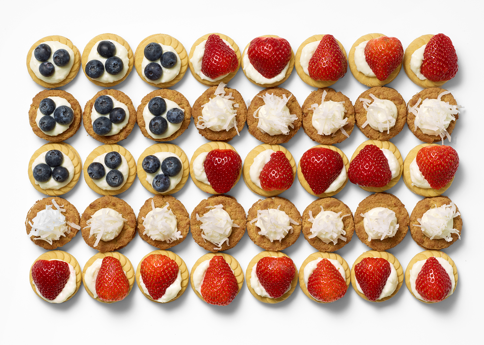 Fourth of July Coconut Cream Flag