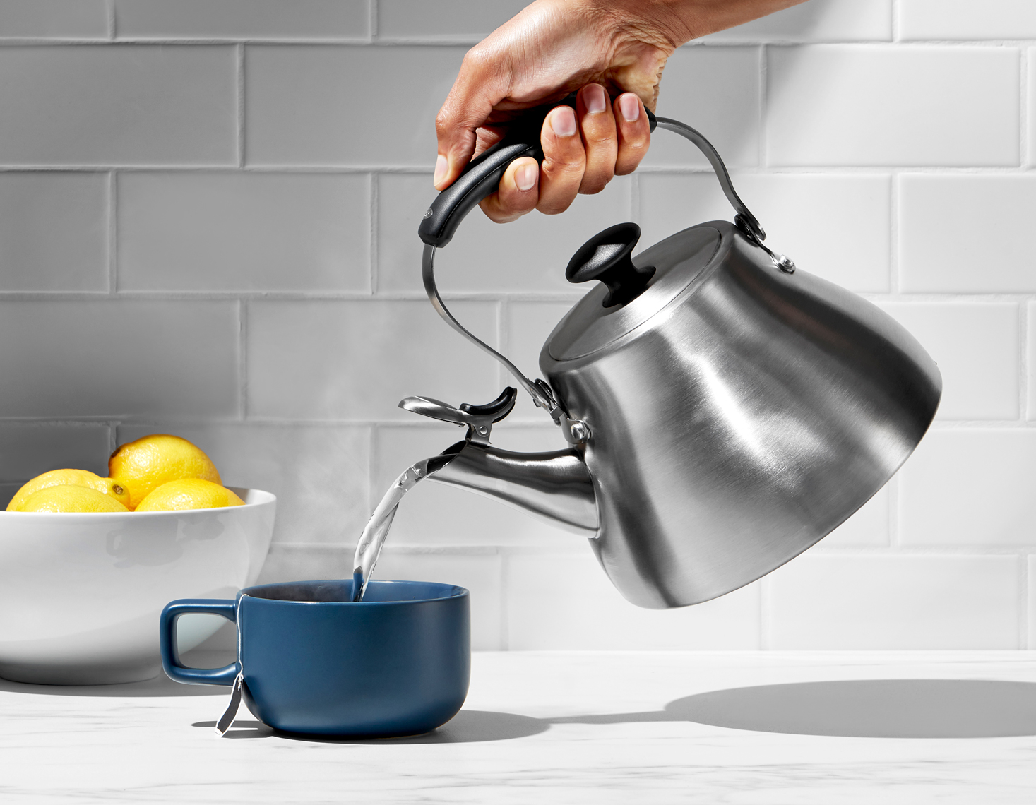 OXO Classic Tea Kettle Brushed Finish