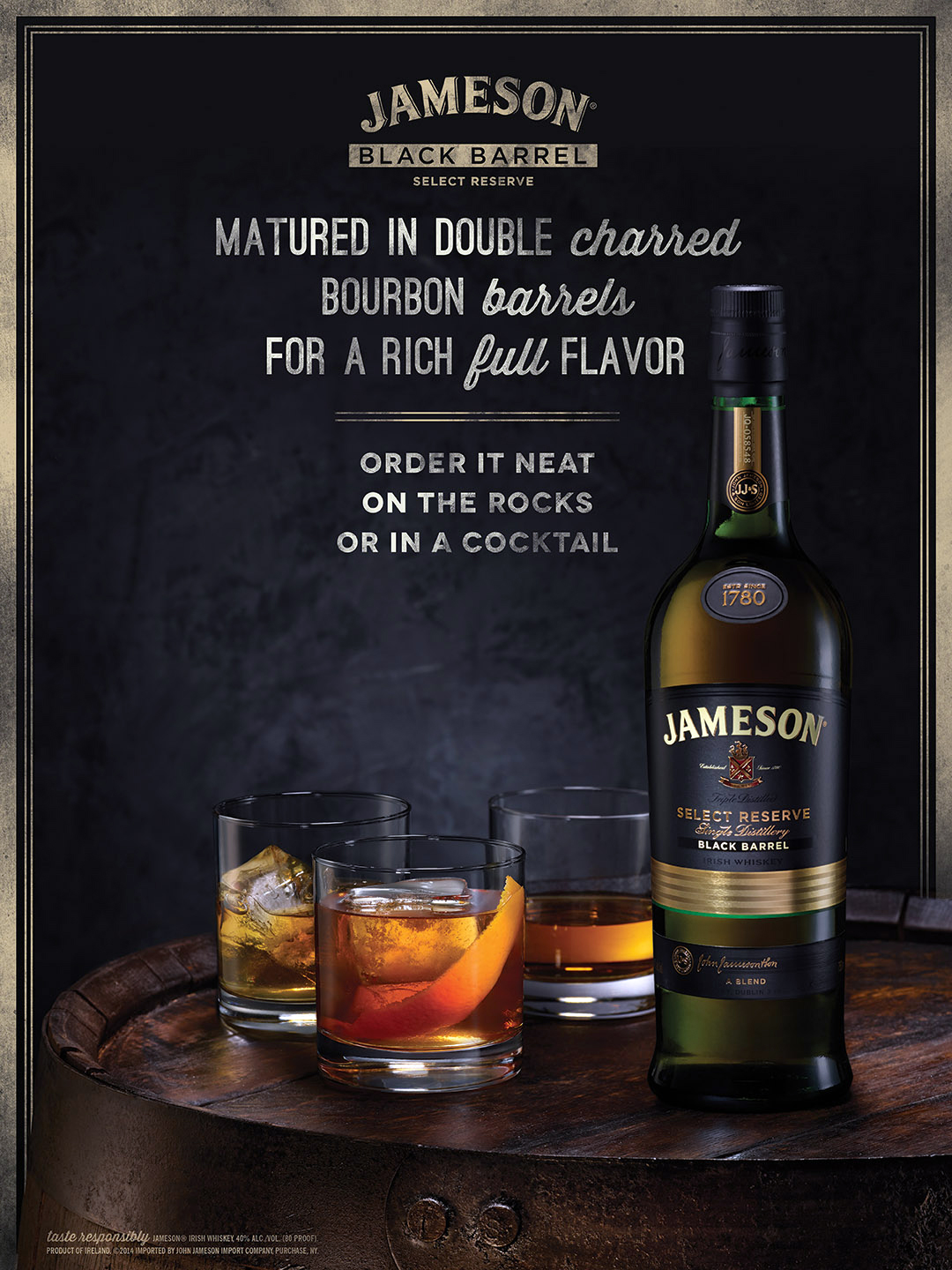 Jameson Black Barrel Ad