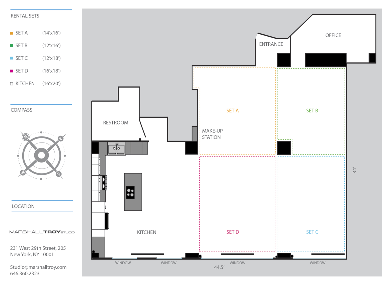 Studio Layout - Rental